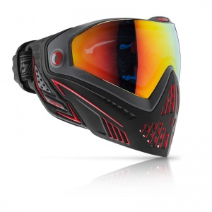 Maska DYE I5 Fire (black/red)